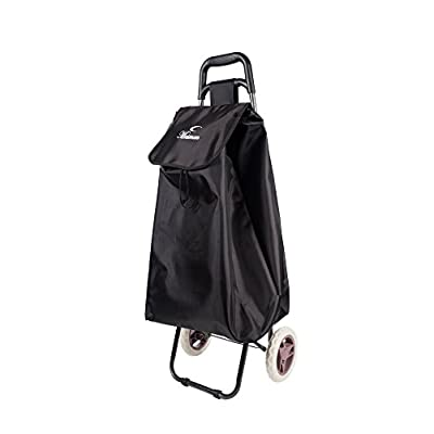 ALL Bags® 2 Wheeled Large Lightweight Waterproof Shopping Trolley Bag (Black) - suitcases