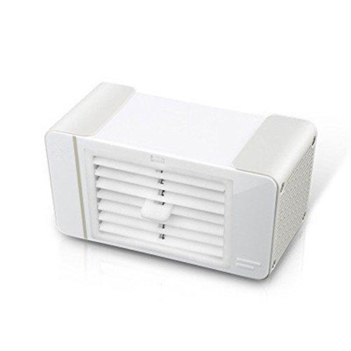 LDRAGON USB-Lüfter Home Office Desktop Mini Mute Elektrische Luftkühler 2 Motor Kleine Schreibtischlampe Winkel Einstellbar - Eiskristall * 2-18,5 * 10 * 8,8 cm,Silver (Lüfter Motor Single)
