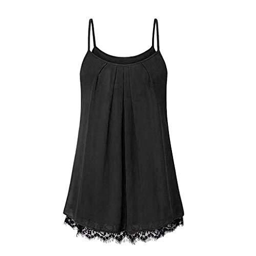 Xmiral canotta donna eleganti taglie forti top donna eleganti estivi canotte donna camicia donna elegante maglia xxl nero