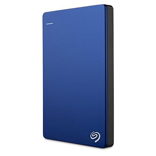 Seagate Backup Plus Slim Externe Portable Festplatte für PC & MAC & PS4 (6,4 cm (2,5 Zoll) USB 3.0) (Generalüberholt), Kapazität:2.000GB (2TB), Farbe:Blau