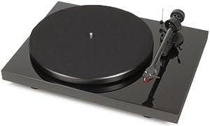Pro-Ject Debut Carbon (DC)/OM 10 Turntable con braccio di carbonio, Nero in offerta da Polaris Audio Hi Fi