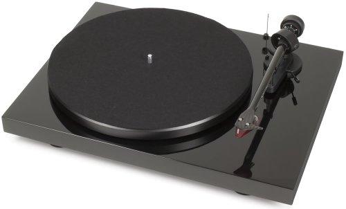 Pro-Ject Debut Carbon (DC)/OM 10 Turntable con braccio di carbonio, Nero