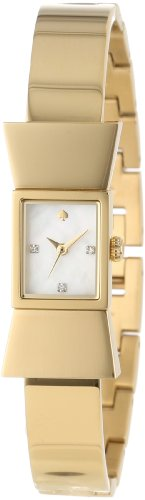 Kate Spade Women's Gold Plated Bracelet Gold Tone Steel Case Quartz MOP Dial Analog Watch 1YRU0070