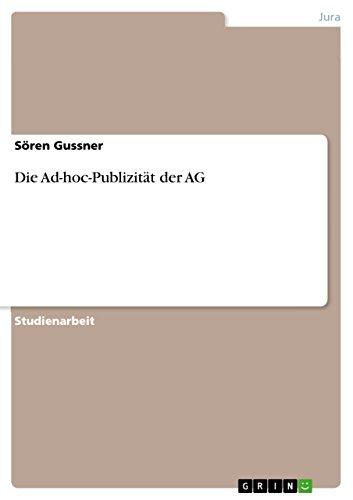 Die Ad-hoc-Publizität der AG