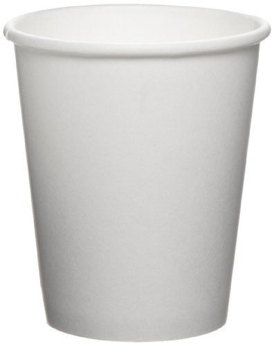 White Paper Cups (SOLO U508NU Uncoated Paper Hot Cup, 8 oz. Capacity, White (Case of 1,000) by SOLO Cup Company)