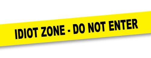 """Csi Kit - Nastro """"Idiot Zone - Do Not Enter"""" - 15 Metri"""