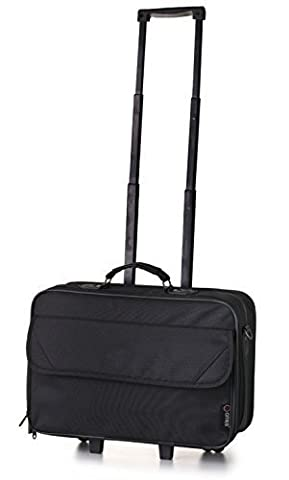 5 Cities Laptop Roller Case Briefcase 44cm, 22 Liters, Business Black, LAP010