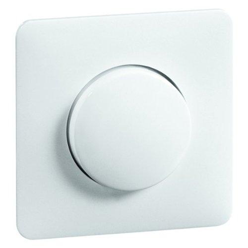 Peha 00150313 Standart Zentralplatte mit Knopf, für Dreh-Dimmer und Potentiometer, reinweiß -