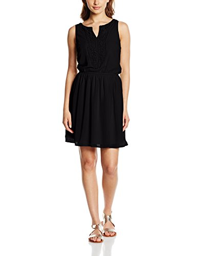 Only Onlcarol S/L Short Dress, Vestito Donna Nero