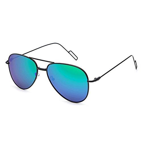 Klassische Unisex Sonnenbrille Anti-Reflective Nachtsichtbrille Driving Glasses Fliegerbrille Pornobrille in vielen Farbkombinationen Strand-Sonnenbrille Farb Reflektierende Sonnenbrille (B)