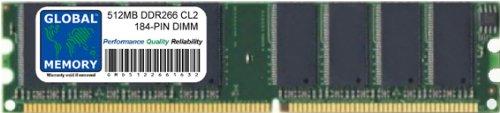 512MB DDR 266MHz PC2100 184-PIN DIMM ARBEITSSPEICHER RAM FÜR PC DESKTOPS/MAINBOARDS