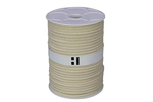 Hummelt® SilverLine-Rope Baumwollseil Baumwollkordel (H) 10mm 50m natur (beige) auf Rolle