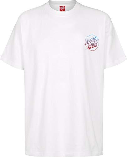 Santa Cruz Weiß Fade Hand T-Shirt (Medium, Weiß) (Santa-t-shirt)