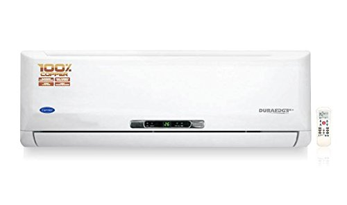 Carrier 18K Duraedge Plus K+ Split AC (1.5 Ton, 3 Star Rating, White, Copper)