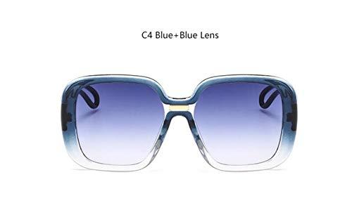 NNGETUI Übergroße Sonnenbrille Fashion Womens Markendesigner Große Retro-Sonnenbrille 2019 Crystal Fade Black Square Eyewear