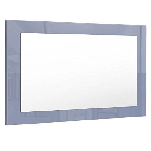 Vladon Spiegel Wandspiegel Lima 89cm in Grau Hochglanz