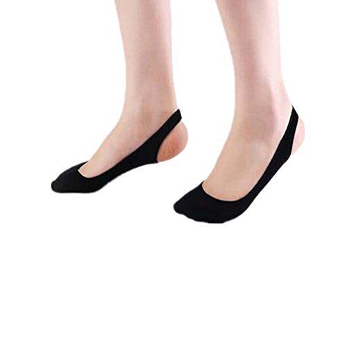 Black Temptation Damen Soft Low Cut Unsichtbare High Heel Socken Half Insoles Pads, A 6