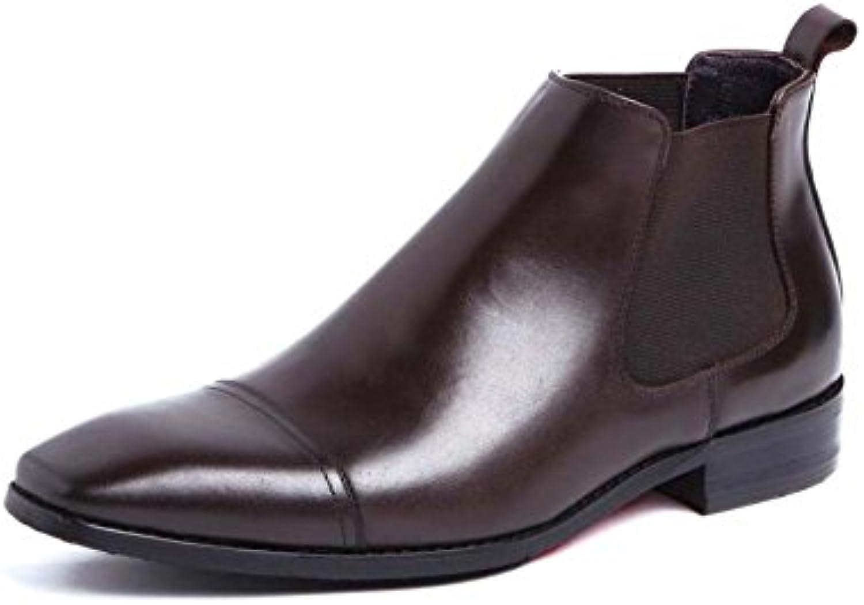 GLSHI Herren Stiefeletten Schuh Rindsleder  Business Kleid Schuhe Atmosphäre Hat 37 Yards zu Schaffen