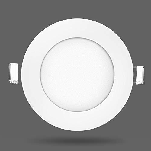 Kefflum LED Panel 9W Blanco Cálido Redondo Lámpara Foco Plafón Empotrado Techo...