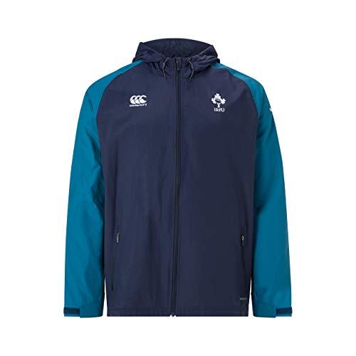 Canterbury Herren Offizielle Irland 18/19vaposhield wasserabweisend Full Zip Rugby Jacke L Marineblau Blazer Full Zip Rugby