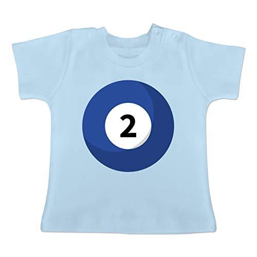 g Baby - Billard Kugel 2 Kostüm - 1-3 Monate - Babyblau - BZ02 - Baby T-Shirt Kurzarm ()