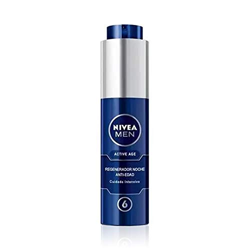 NIVEA MEN Active Age Regenerador Anti-edad Noche (1 x 50 ml), crema de