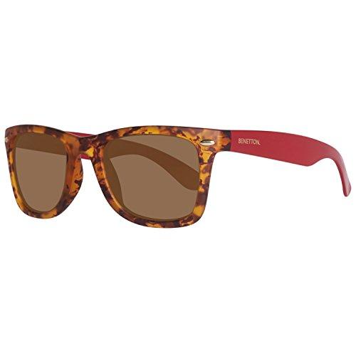 BENETTON BE986S03, Gafas de Sol Unisex, Trtois/Red, 50