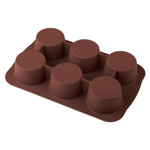 baekka Muffin-Backform Muffin braun 6er Form, Silikon-Backform