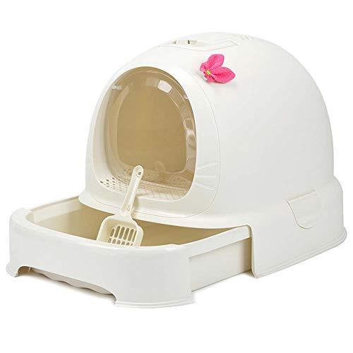 ETH Entièrement Clos Toilette Box litière Grandes boîtes à litière Fat Cat Cat Cat Grand Bol Simple tiroir 15 Livres ou Moins 52 Utiliser * 42 * 40cm Durable (Couleur : C)