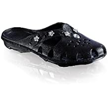 Fashy Brigthon Damen Ultraleicht-Pantolette 7621 20 Damen Clogs & Pantoletten, Schwarz (schwarz 20), EU 36