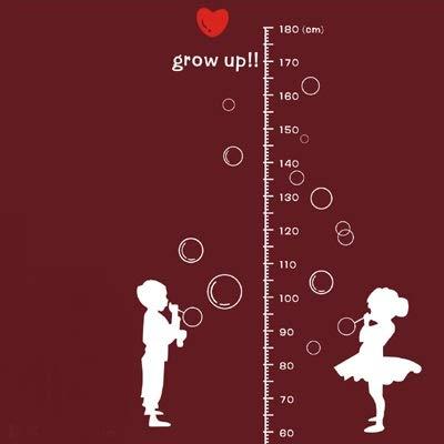 Vinilo altura,Soplando burbujas estatura niños medidores