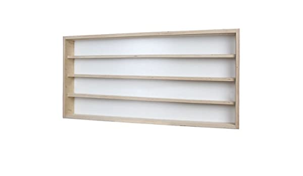V70.1 Vitrine murale 70 x 11 x 8,5 cm meuble rangement étagère armoire bois