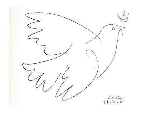 Lithographie Friedenstaube nach Pablo Picasso