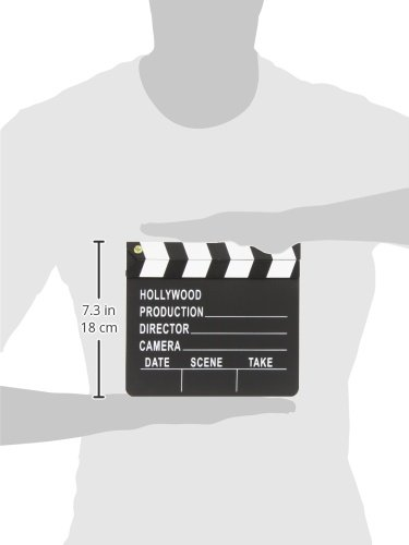 """Amscan Night Hollywood Themed Party Movie Scene Marker Clapper Decoration (Pack of 1), Black/White, 7"""" x 8"""""""