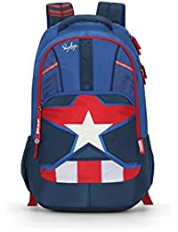Skybags Marvel Extra 03 35 Ltrs Blue Casual Backpack (Marvel Extra 03)
