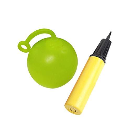 HELLOO HOME Aufblasbarer Blasen Ballon Ball Lustiger Wasserball Transparente Strand Aufblasbare Ball Für Sommer Strand Pool Party Supplies Strand Spielzeug Mit Pumpe Gelegentliche Farbe