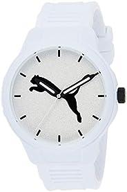 Puma Reset V2 Men's White Dial PU Leather Analog Watch - P