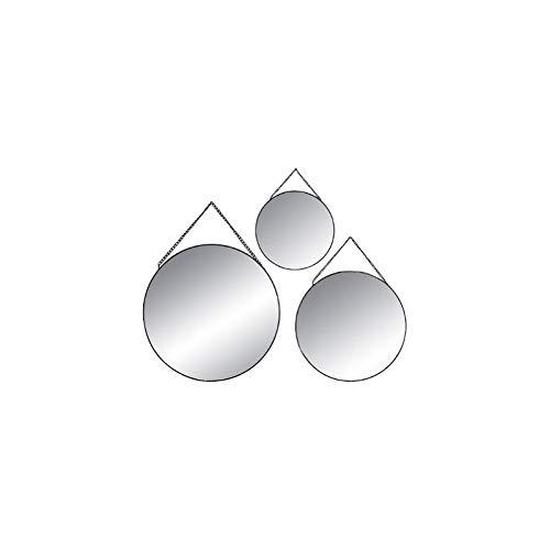ATMOSPHERA Spiegel, rund, Schwarz, 3 Stück - 3 Stück Spiegel
