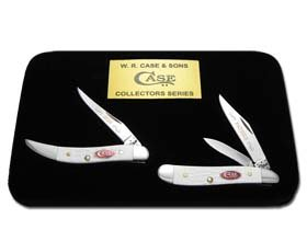 CaseXX XX Father Son Jigged White Delrin Peanut and Toothpick 1/600 Pocket Knife