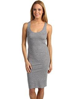 Damen Hazel Essential Knit Racerback Kleid, Heather Grey, Large (Essential Knit Kleid)