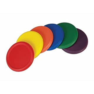 American Educational Products Ultra Soft Foam Frisbees, Assorted Colors, Set of 6 by American Educational Products
