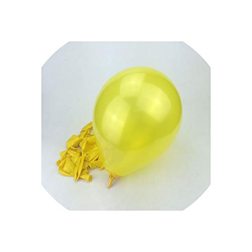 Archiba 10pcs/Lot 10inch 1.5g Silver Latex Balloon Air Balls Inflatable for Wedding Birthday Party Decoration Float Balloon,Yellow