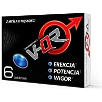 V-QR 6 Tabletten (vegan) für aktive Männer Vitalität Ausdauer Testo-Booster wirkungsvoll effektiv kur Libidobooster sexuellen Leistungsfähigkeit extra stark Alternative zu Potenzmittel + GRATIS