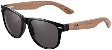 Sunglasses for Men and Women with Walnut Wooden Legs and Polarised Lense Handmade Wooden Sunglasses