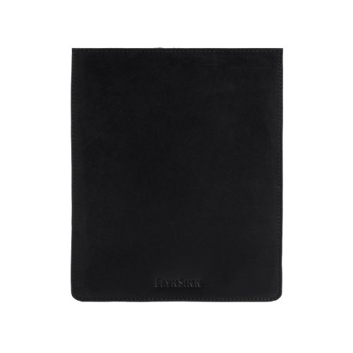 FEYNSINN Tablet-hülle ALEX - Unisex iPad-Tasche groß Leder hülle fit iPad 2 & 3 - Cover Damen Herren echt Leder schwarz