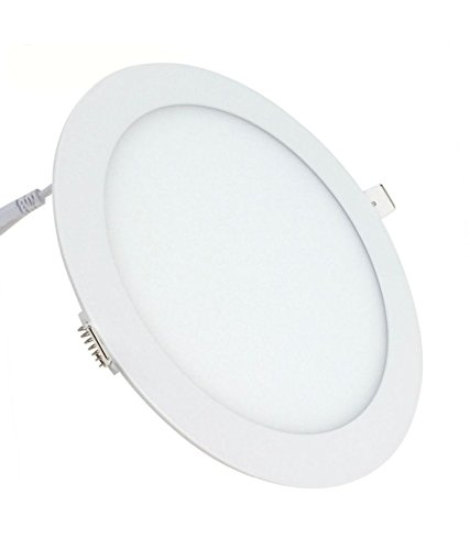 Signature 12W LED Round Metal Panel Light (White) - Pack of 10