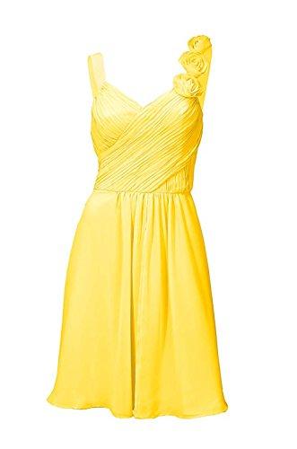 Cocktailkleid, gelb von Ashley Brooke event Grösse 38