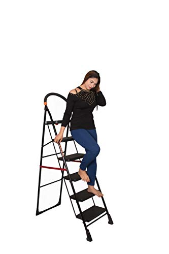 PARASNATH Back Heavy Folding Ladder With Wide Steps Milano 6 Steps 6.2 Ft