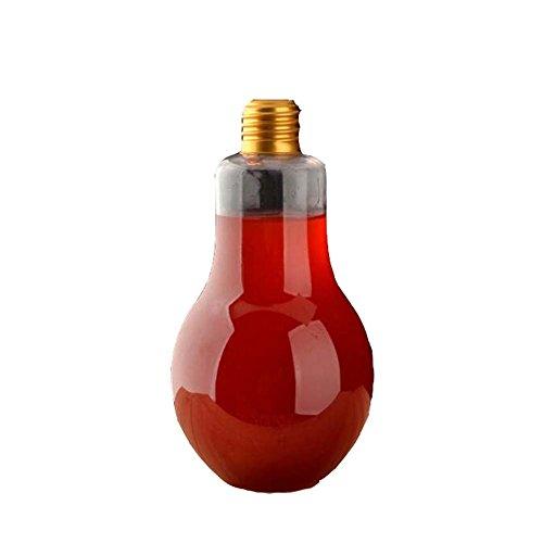 Einweg-transparente Glühbirne Form Saftflaschen Set von 10 (500 ml) (Klar Appliance Glühbirne)
