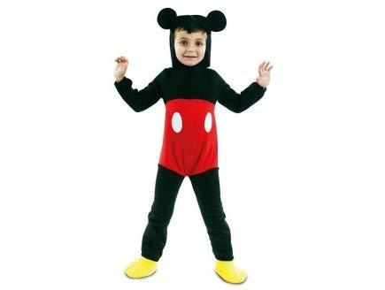 OTTO Deguisement Mickey 3-4 Ans Enfant (Combinaison, Coiffe) - Costume Souris Rouge & Noire